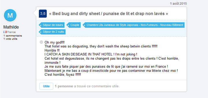 commentaire du site booking.com